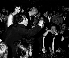 Ron Galella Steve Rubell, Liza Minnelli, Bianca Jagger and Andy Warhol at Studio 54's first anniversary party, NYC, April 26, 1978