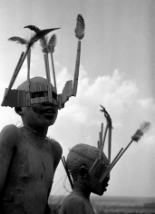 George Rodger, Children from the Wagogo Tribe, Special Headgear for the Circumcision Ceremony, Tanzania 1947