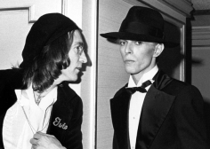 Ron Galella, John Lennon and David Bowie at the Grammy Awards, Uris Theater, New York, 1975