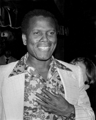 Ron Galella, Sidney Poitier, Palm Restaurant, West Hollywood, 1977