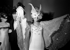 """Harry Benson, Christina Ford at Truman Capote's """"Black and White"""" Ball at the Plaza Hotel, New York, 1966"""