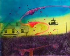 Kali, Maine Landscape Pink Swirl, 1967