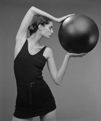 Len Prince, Model with Ball, New York, 1991