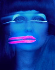 Melvin Sokolsky Lip Streaks, Donna Mitchell, New York, 1967