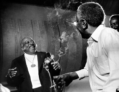 Phil Stern, Count Basie in the studio during the recording of I Told You So, 1976