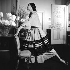 Genevieve Naylor, Model wearing Mainbocher, Harper's Bazaar, 1949