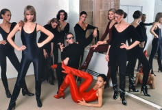 Harry Benson, Halston with models Alva Chinn, Chris Royer, Karen Bjornsen, Nancy North, Carla Araque, Pat Cleveland, Kyle Traylor, and Shirley Ferro, New York, 1977