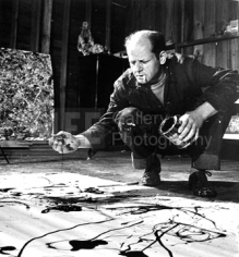 Martha Holmes, Jackson Pollock in his Studio,  Springs, Long Island, New York, 1949