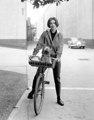 Avery, Audrey Hepburn on her Bike at Paramount Studios, 1957