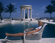 Slim Aarons, C.Z. Guest at her home, Palm Beach, Florida, 1955