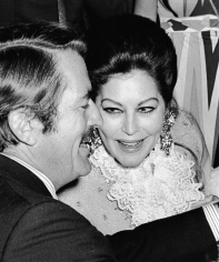 Ron Galella, Gregory Peck and Ava Gardner attending 'Free Southern Theater Dinner', Waldorf Astoria, New York, 1969
