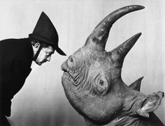 Philippe Halsman, Salvador Dali with Rhinoceros, 1956