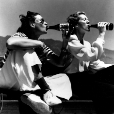 Toni Frissell, Two Models Drinking El Coyote Beer, 1940's