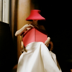 Rodney Smith, Bernadette in Red Hat with Book, New York Public Library, New York City, 2003