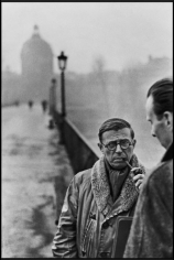 Henri Cartier-Bresson, Jean-Paul Sartre & Architect Jean Pouillon, Paris, France 1945-46