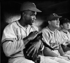 "Phil Stern, Jackie Robinson During the Filming of ""The J. Robinson Story"", 1949"