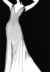 Lillian Bassman, Thierry Mugler Dress, German VOGUE, 1998