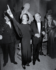 "Ron Galella, Diana Vreeland and Pierre Cardin attend The Metropolitan Museum's Costume Institute Gala Exhibition of ""La Belle Epoque"", 1982"