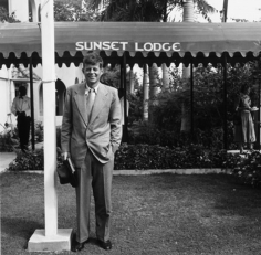 Slim Aarons, John Fitzgerald Kennedy outside Sunset Lodge, Montego Bay, Jamaica, 1953