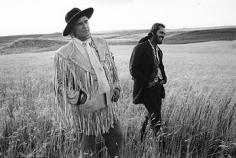 Mary Ellen Mark, Marlon Brando & Jack Nicholson  on the set of The Missouri Breaks,  Billings, Montana 1975