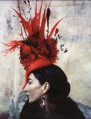 Deborah Turbeville, Portrait of Carmen Freiderberg in Posos, Mexico, Italian Vogue, Hat by Philip Tracey, 1997