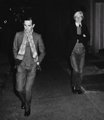 Ron Galella Fred Hughes and Andy Warhol, New York, 1973