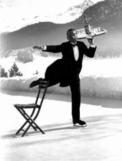 Alfred Eisenstaedt, Ice Skating Waiter, Grand Hotel, St. Moritz, 1932