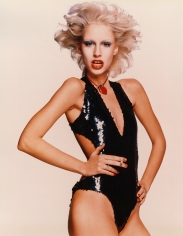 Chris von Wangenheim  Donna Jordan in sequined bodysuit, circa 1977