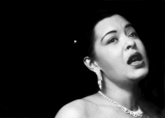 Bob Willoughby, Billie Holiday singing her plaintive songs at the Tiffany Club in Los Angeles, 1952