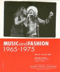 Music and Fashion: 1965 - 1975, Exhibition Invitation