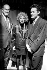 Ron Galella, Oscar de la Renta, Joan Rivers, and Isaac Mizrahi, The Carlyle Hotel, New York, 1990