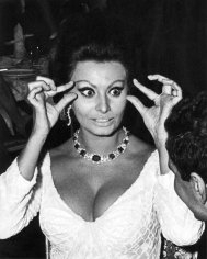 Ron Galella, Sophia Loren at the premier of