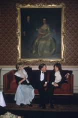 Slim Aarons, Marianne Faithfull, Desmond Guinness, and Mick Jagger at Castletown Mansion, Ireland, 1968