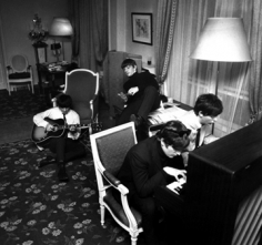 Harry Benson, The Beatles Composing I, Paris, 1964