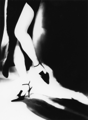 Lillian Bassman Tra Moda e Arte: Teresa in a gown by Laura Biagiotti and shoes by Romeo Gigli, 1996