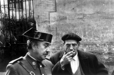 Mary Ellen Mark, Luis Buñuel and Fernando Rey on the set of Tristana,  Toledo, Spain 1969