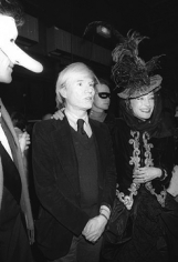 Francis Apesteguy,  Andy Warhol and Loulou de la Falaise at the Palace nightclub, Paris, 1978