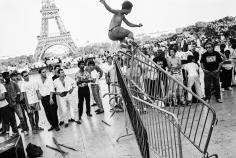 Arthur Elgort, Skaters at the Eiffel Tower, Paris, 1990