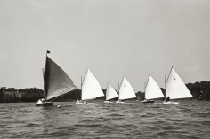 Priscilla Rattazzi, Sailing around the Pond Regatta, East Hampton, 1998