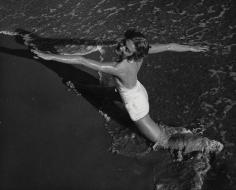 Herbert Matter, Model in Swimsuit on the Beach