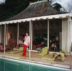 Slim Aarons, Babe Paley, wife of William Paley, by the pool in Round Hill, Jamaica