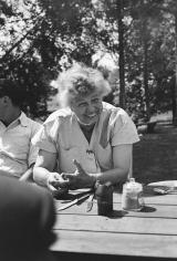 Genevieve Naylor, Eleanor Roosevelt, Hyde Park, New York, 1956-57