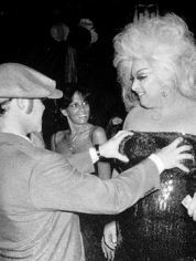 "Ron Galella, Elton John and Divine at the premiere of ""Grease,"" Studio 54, New York, 1978"