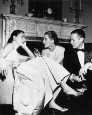 Slim Aarons, Park Avenue Party: Slim Hawks, Diana Vreeland, and her husband Reed Vreeland at Kitty Miller's New Year's Eve party in her home on Park Avenue in New York, 1952