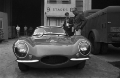 Avery, Steve McQueen Examining his Jaguar with Sturges