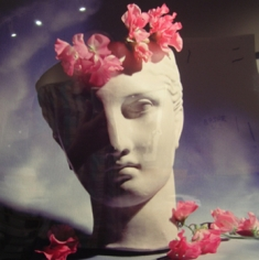 Horst,  Classical Bust with Orchids, 1988