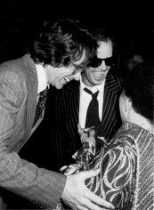 Ron Galella, Jack Nicholson, Warren Beatty, and Mabel Mercer at her concert, Dorothy Chandler Pavilion, Los Angeles, 1978