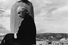 John Loengard, Georgia O'Keeffe on roof at Ghost Ranch, Abiqui, New Mexico, 1967