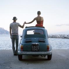 Rodney Smith, Saori and Mossimo Holding Hands, Amalfi, Italy, 2007