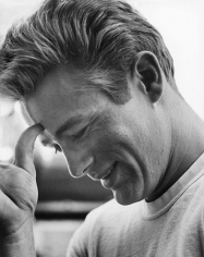 """Sid Avery, James Dean on the set of """"Rebel Without a Cause"""", 1955"""
